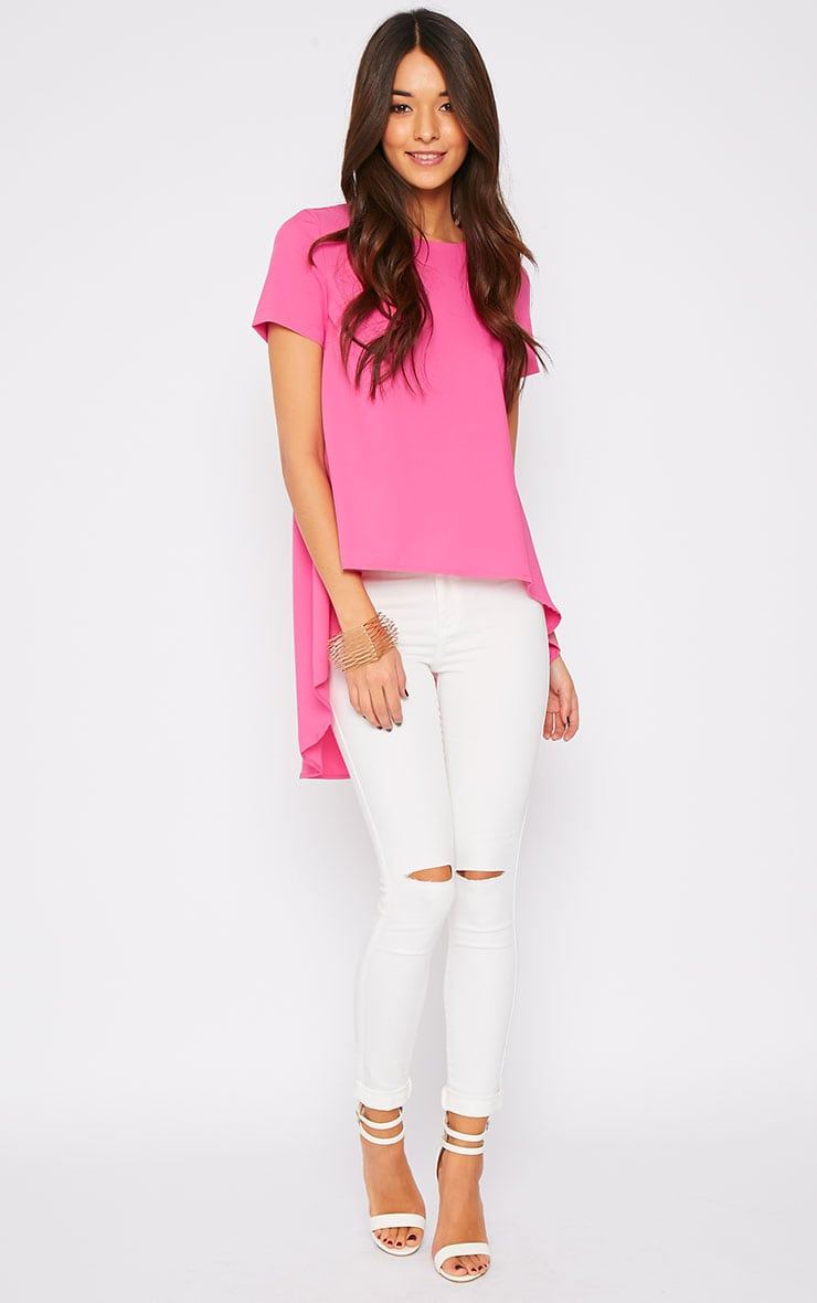 Jada Pink Drop Hem Top  4