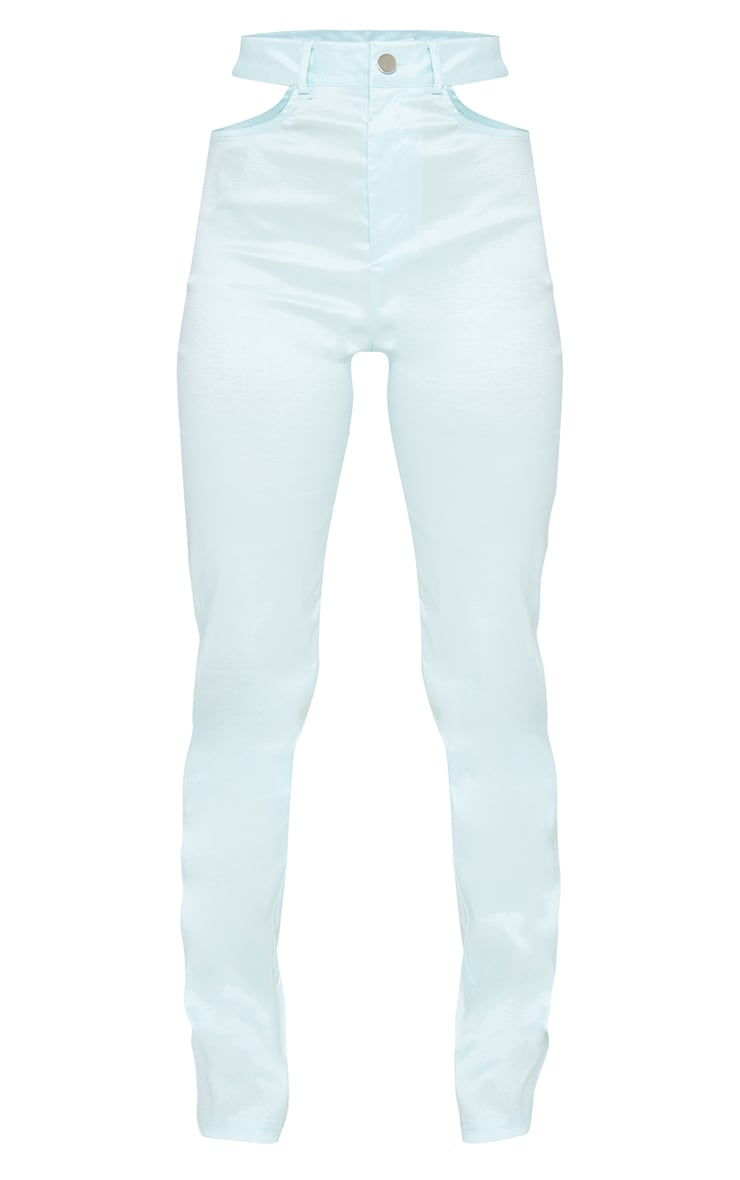 Petite Green Cut Out Detail Trousers 5