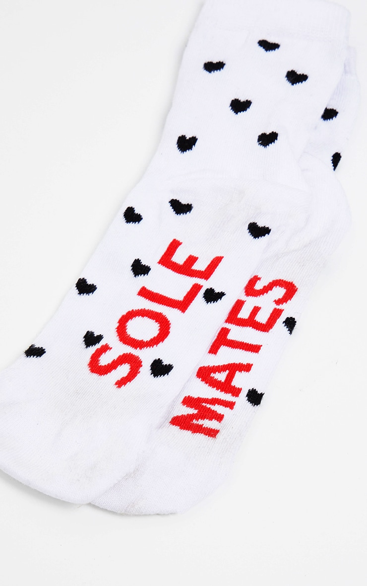 White Sole Mate Socks 3