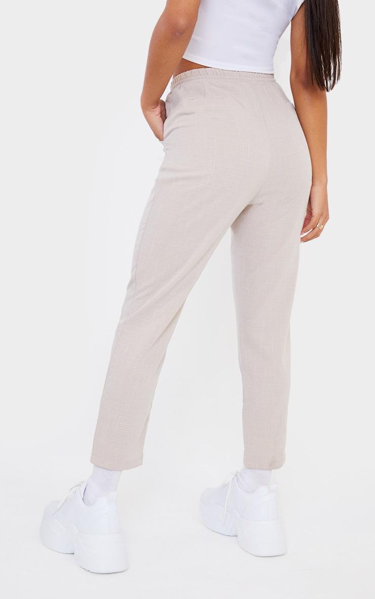 Pantalon style casual gris pierre 3