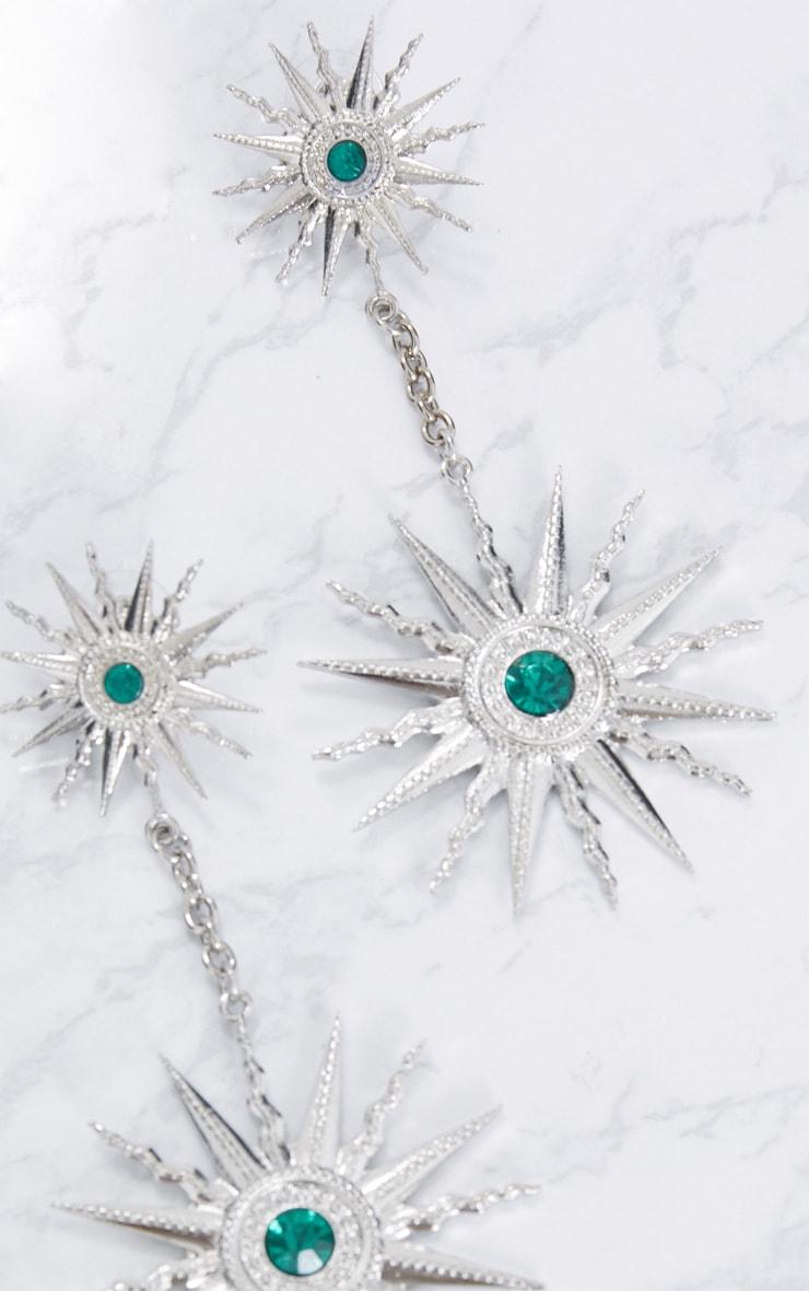 Silver Sundial Drop Earrings 4