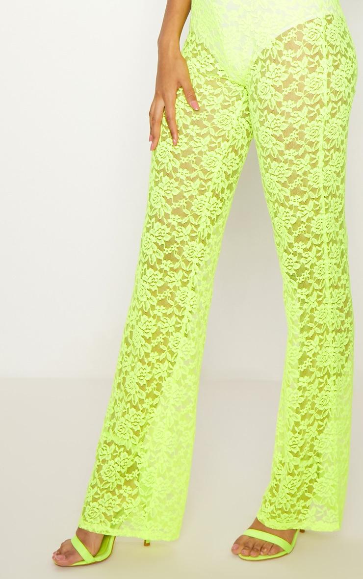 Lime Lace Straight Neck Jumpsuit 5