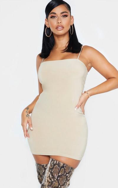 Shape Stone Slinky Strappy Mini Dress