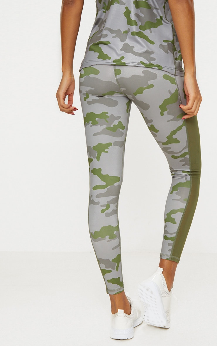Khaki Camo Sports Leggings 4