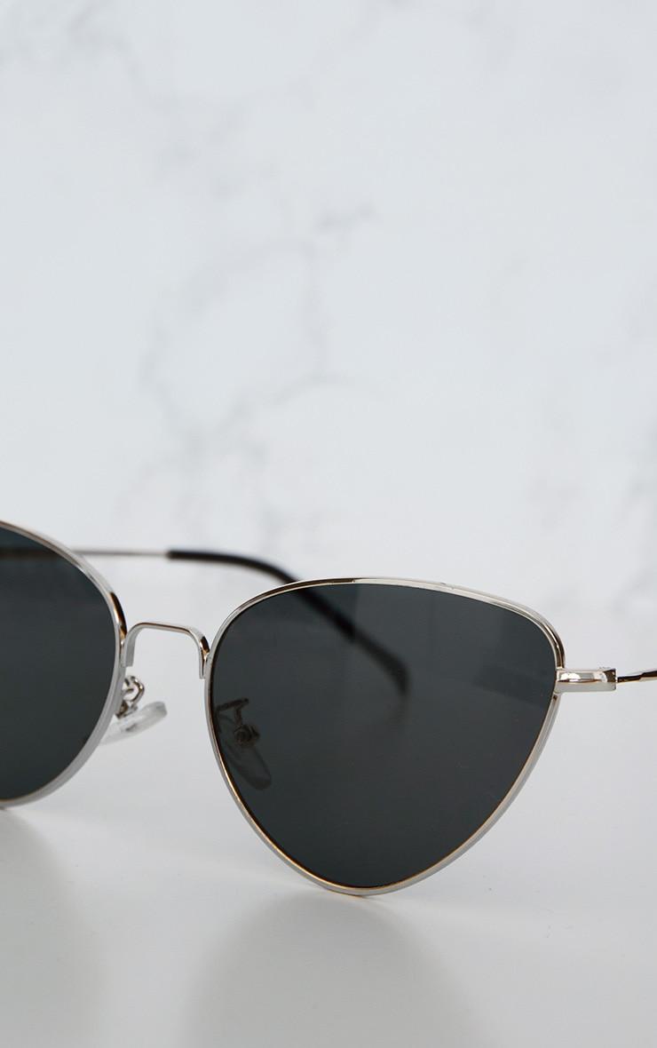 Lunettes rétro oeil de chat à verres noirs 4