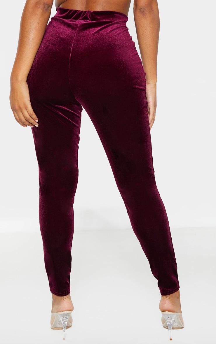 Shape Burgundy Velvet High Waisted Trouser 4
