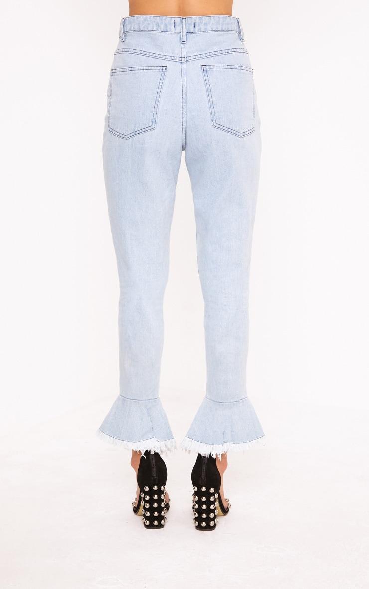 Tatjana Frill Hem Straight Leg Jean 5