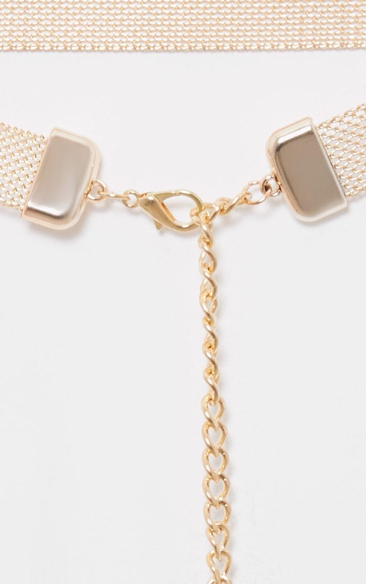 Freddie ceinture à cotte de mailles dorée 5