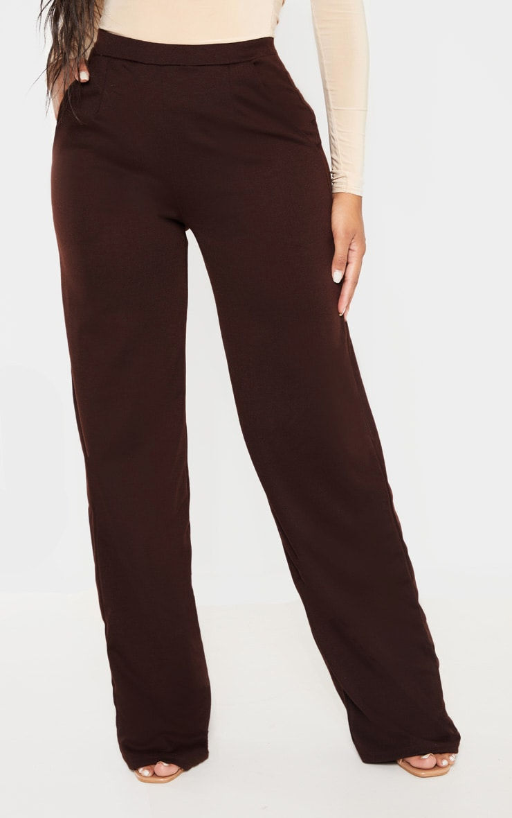 Shape Chocolate Brown Wide Leg Pants 2