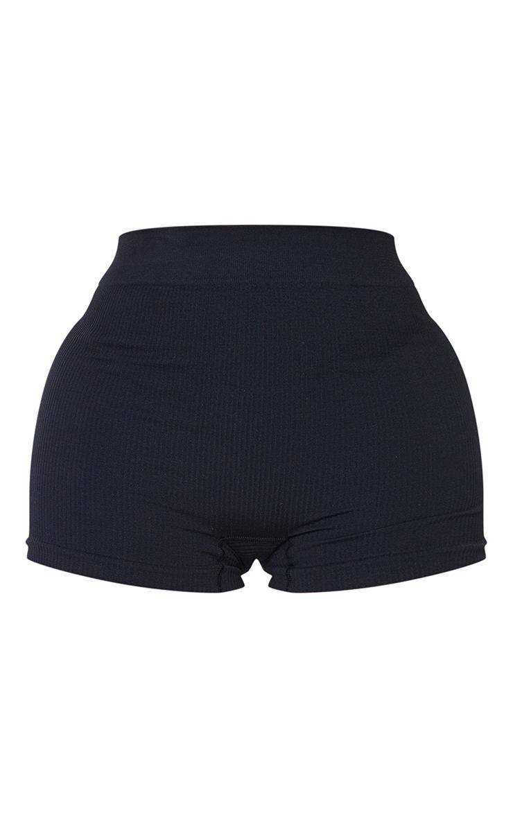 Shape Black Contour Rib Shorts 6