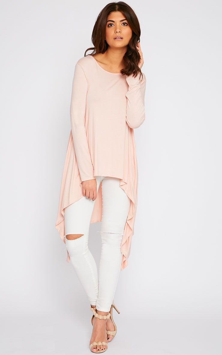 Sophie Nude Asymmetric Swing Top 4