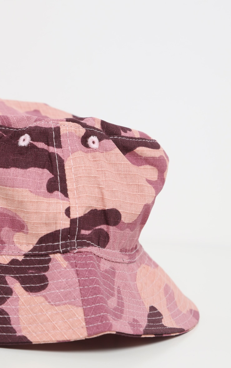Pale Pink Camo Bucket Hat 4