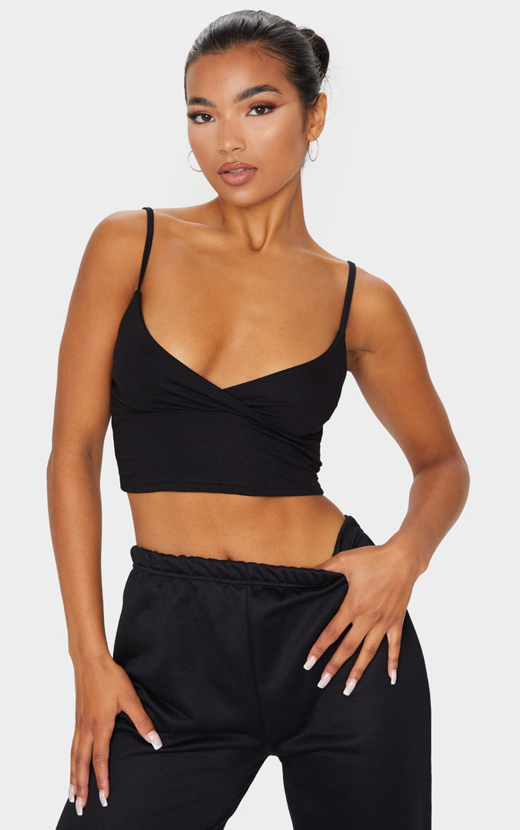 Basic Black Jersey Bralet 1