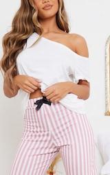 Pyjama bas & top blanc épaules dénudées 4