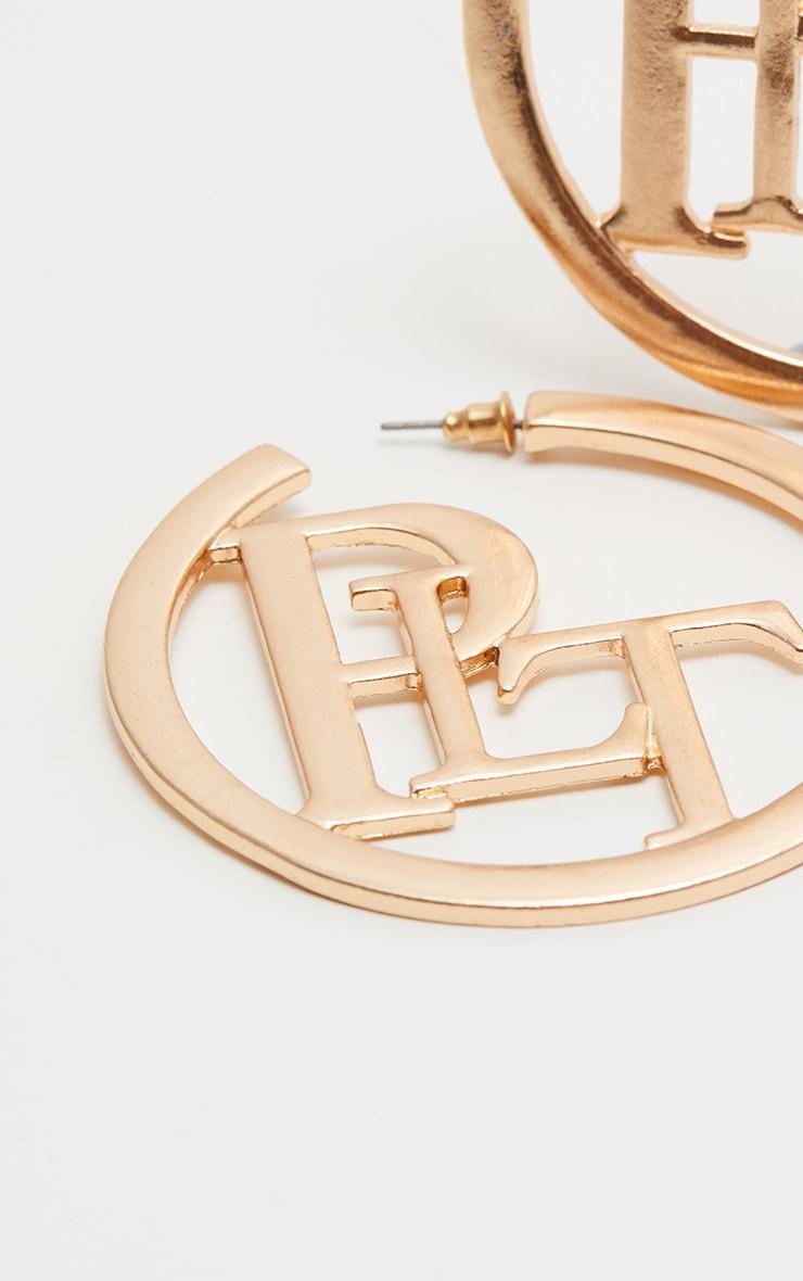 PRETTYLITTLETHING Gold Hoop Earrings 3