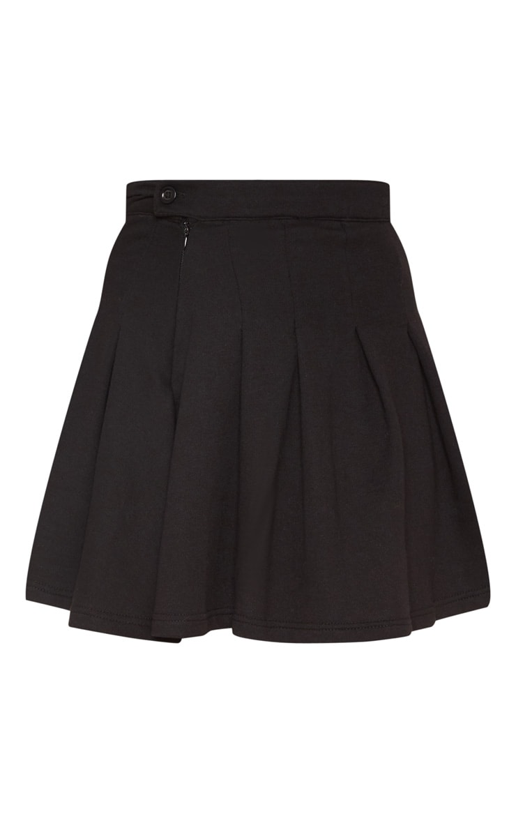 Black Sweat Tennis Skirt 3