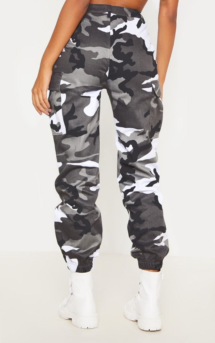 Grey Camo Pocket Detail Cargo Pants  3