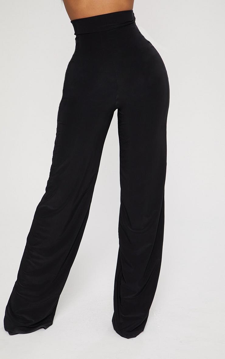 Shape Black High Waist Slinky Wide Leg Pants 2