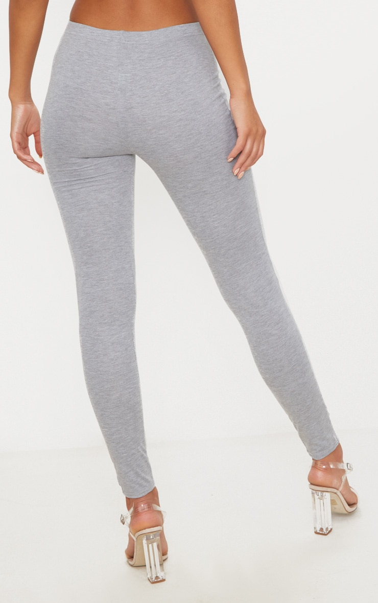 Basic Grey Jersey Leggings 4
