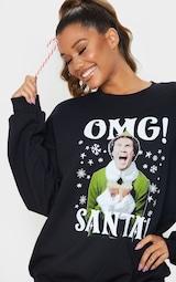 Black Elf Christmas Printed Sweater 1