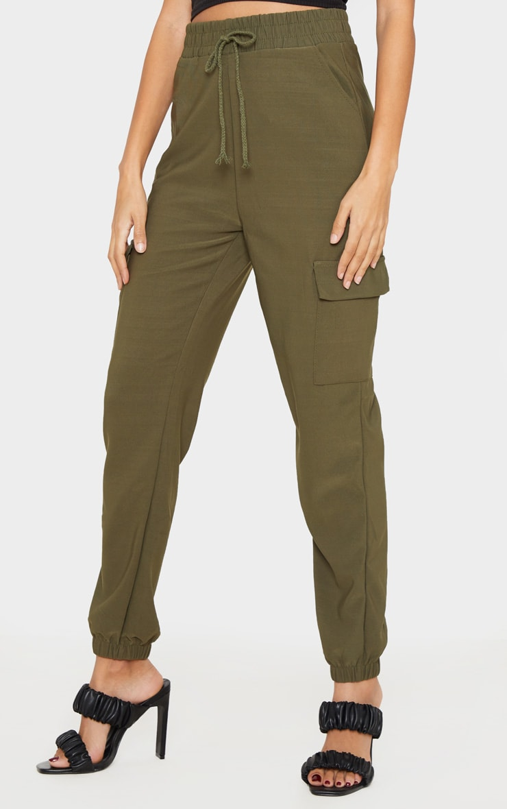 Khaki Cargo Pocket Pants 2