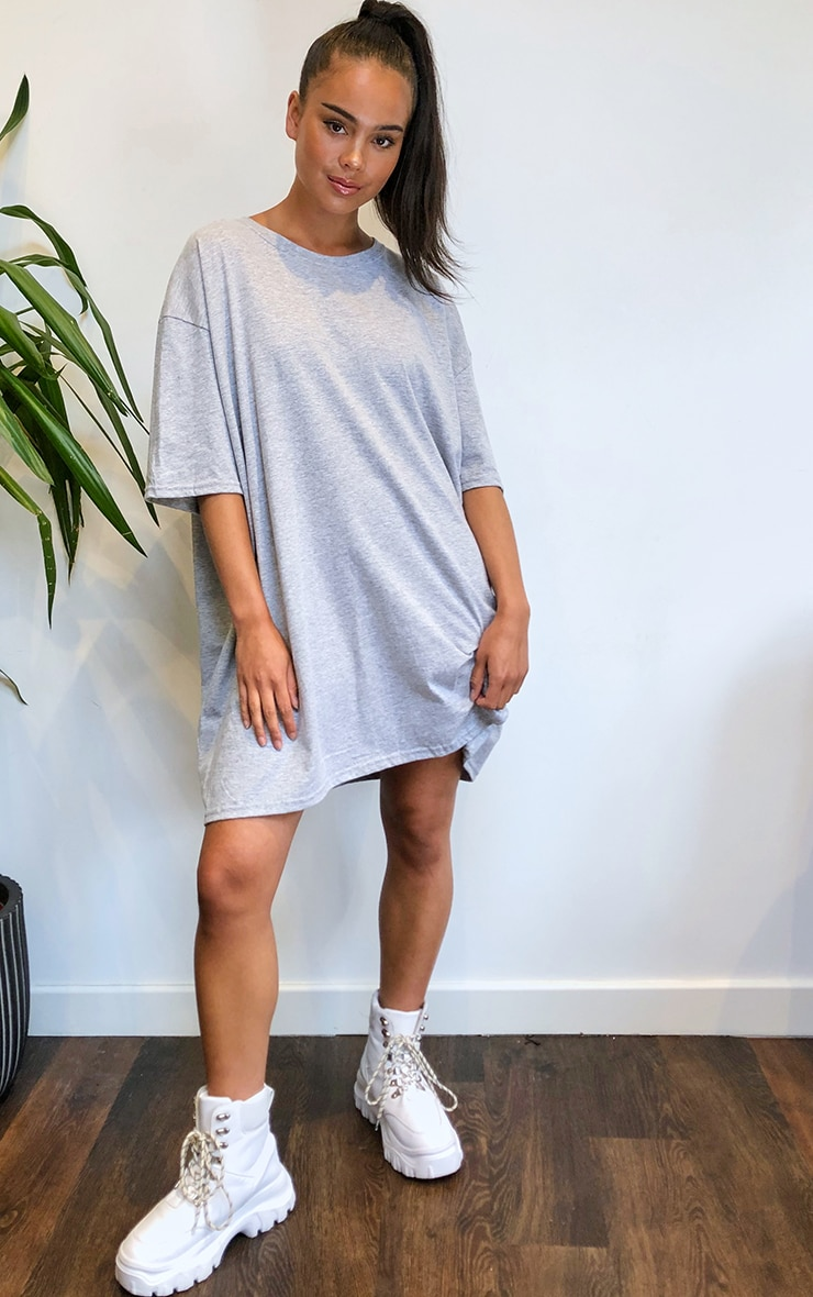 Grey & White 2 Pack T Shirt Dresses 3