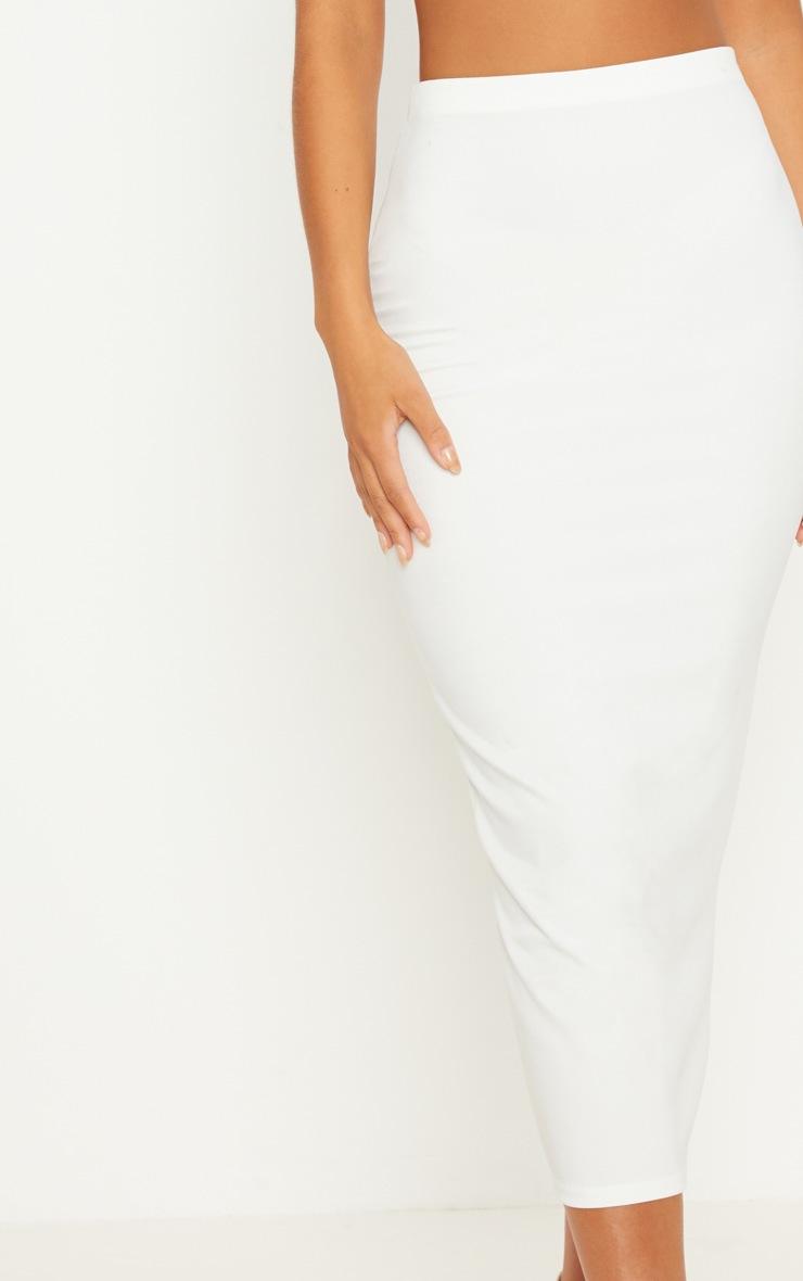 Cream Rib Midaxi Skirt  5