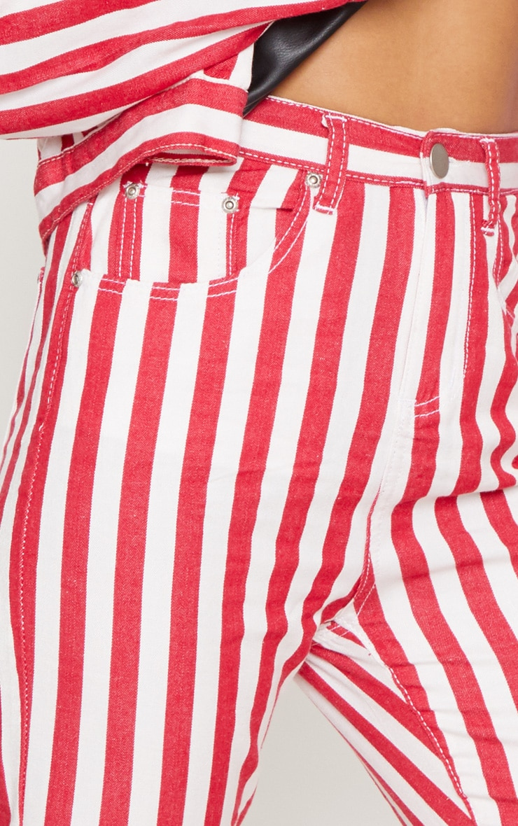 Red Stripe Leg Jeans  5