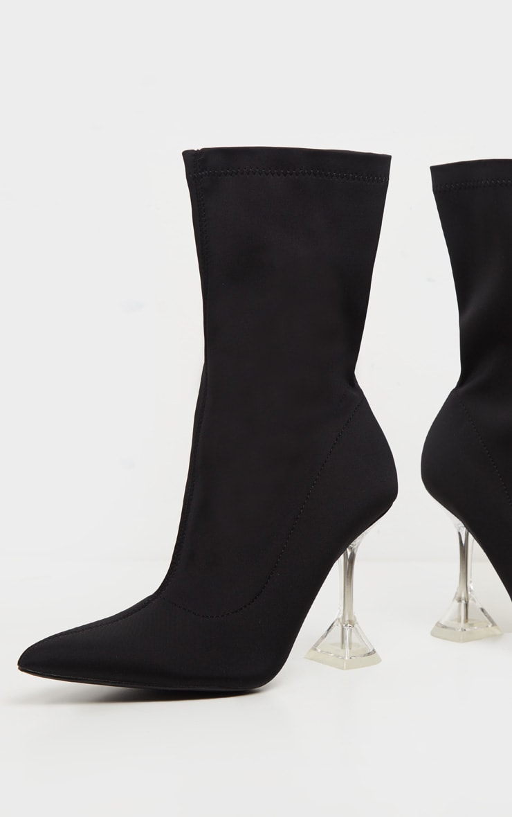 Black Cake Stand Ankle Sock Boot 3