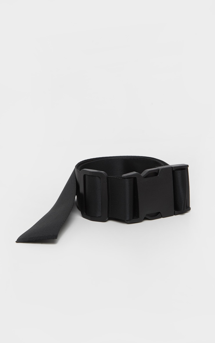 Black Buckle Double Tape Belt 2