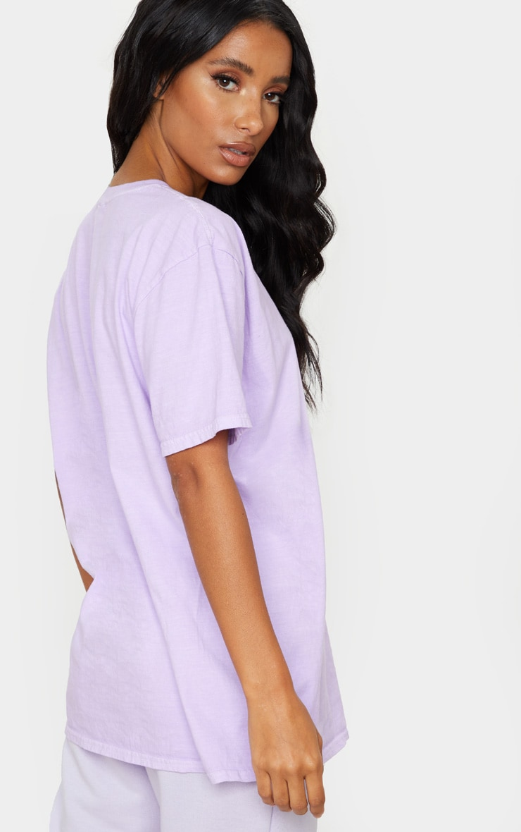 Lilac Washed T Shirt 2