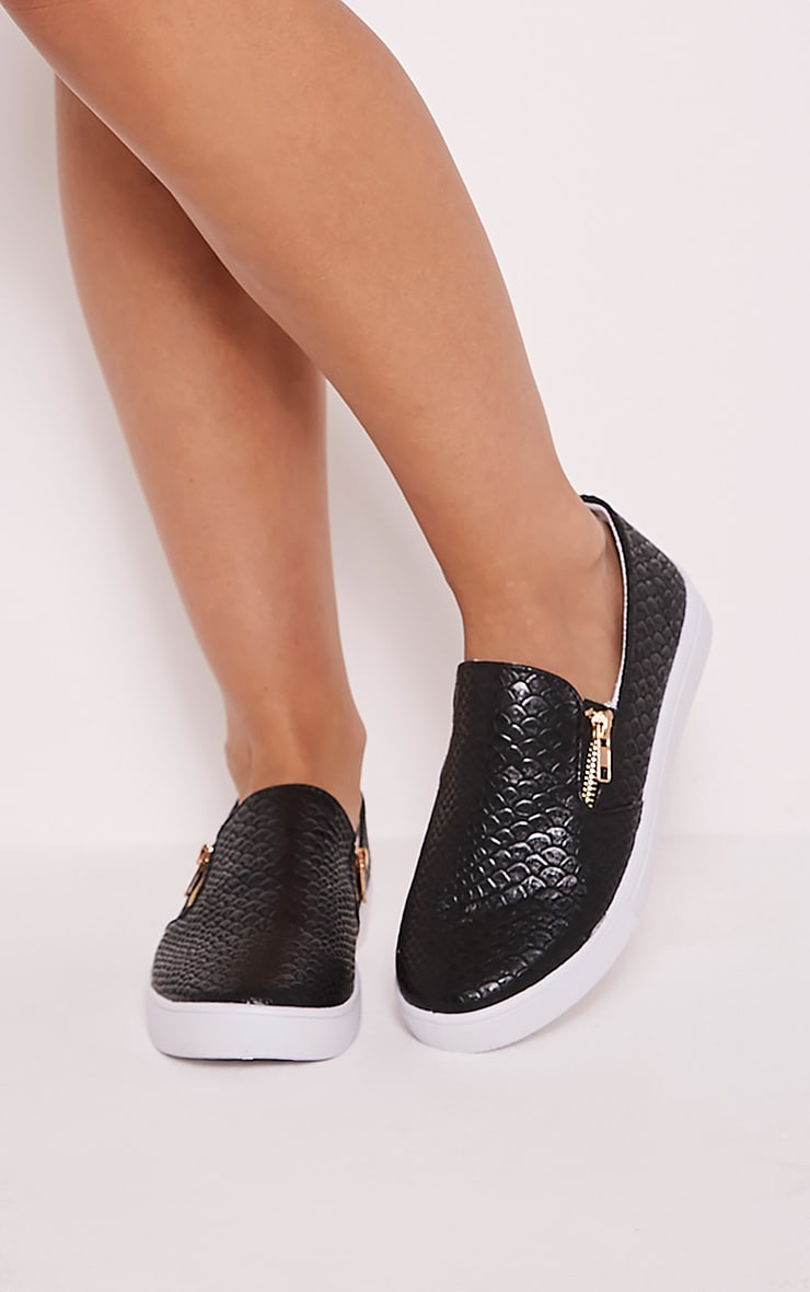 Rori Black Casual Slip On Trainers 1