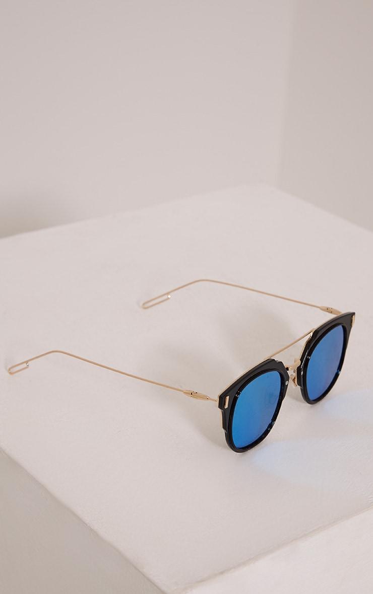 Sharah Black Two Tone Sunglasses 5
