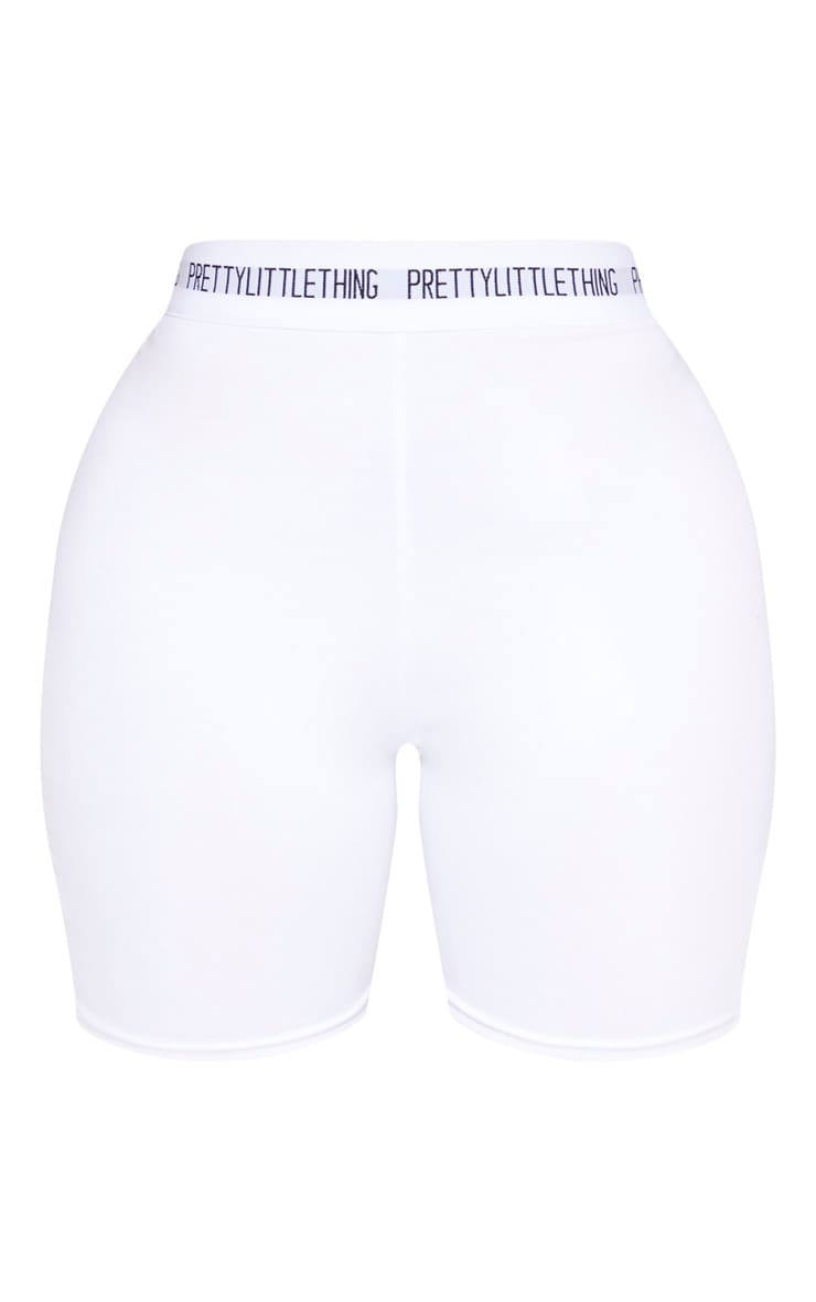 PRETTYLITTLETHING Shape Cream Cotton Cycling Shorts 3