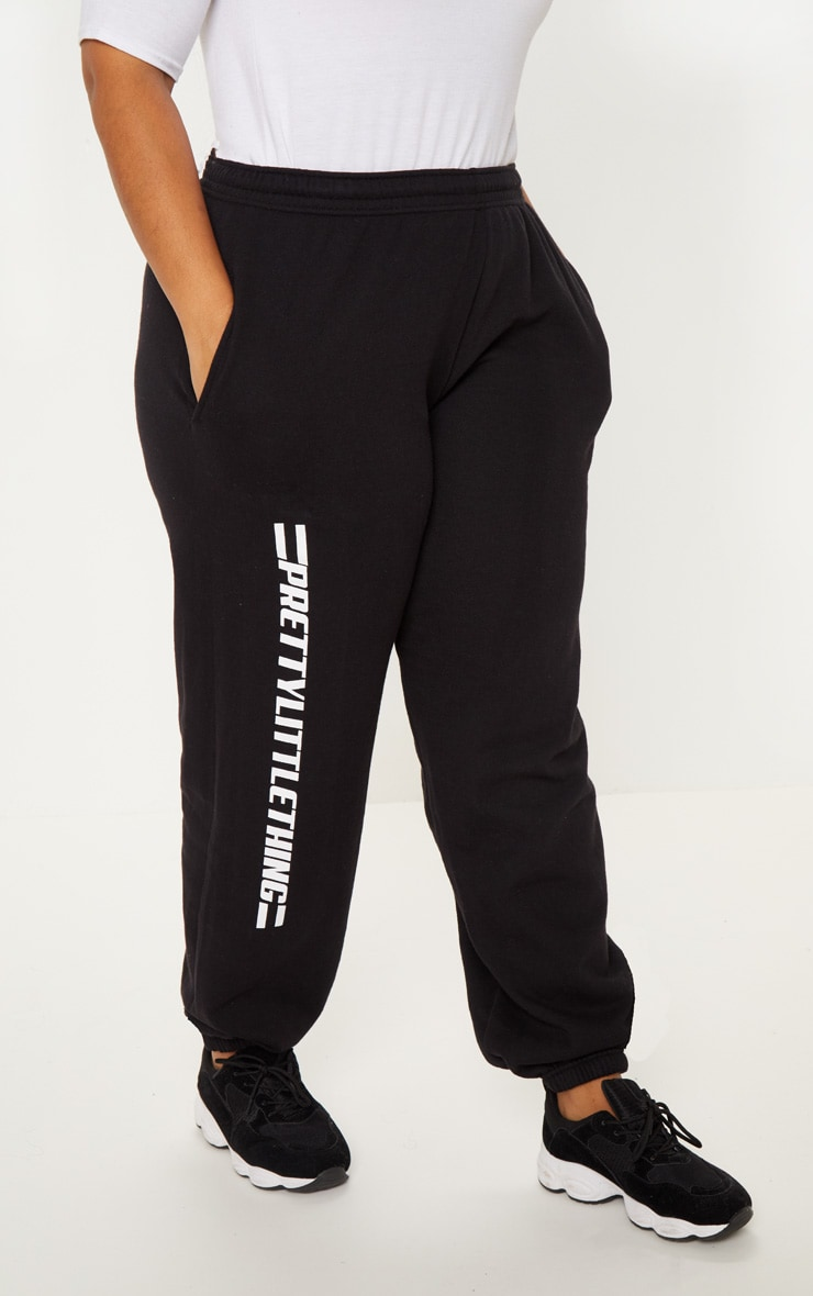 PRETTYLITTLETHING Plus Black Casual joggers 2