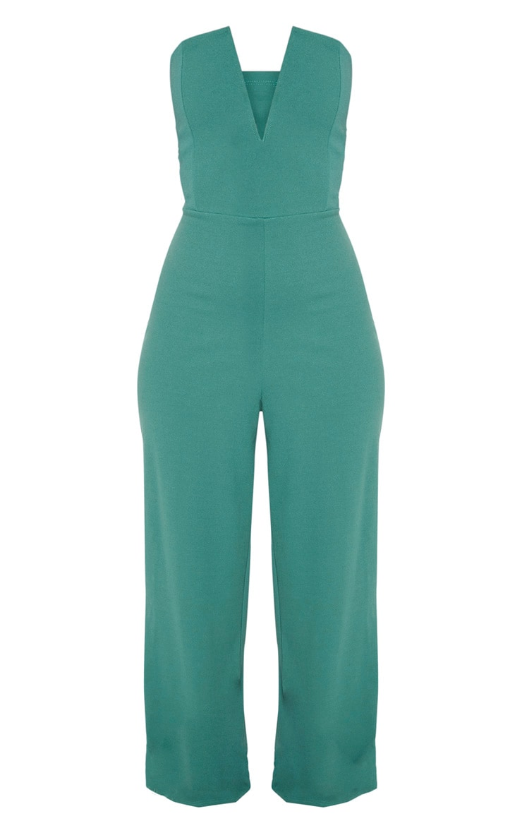 Jasper Green V Bar Wide Leg Jumpsuit 3