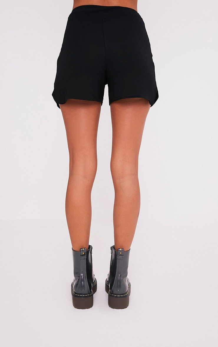 Basic Black Jersey Runner Shorts 5