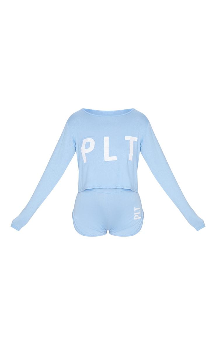 PRETTYLITTLETHING Baby Blue Short PJ Set 5