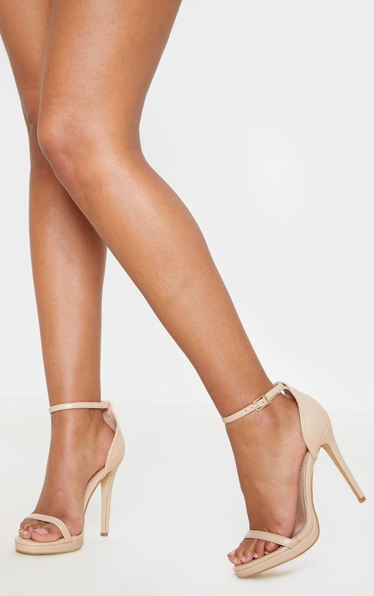 Enna Nude Single Strap Heeled Sandals 3
