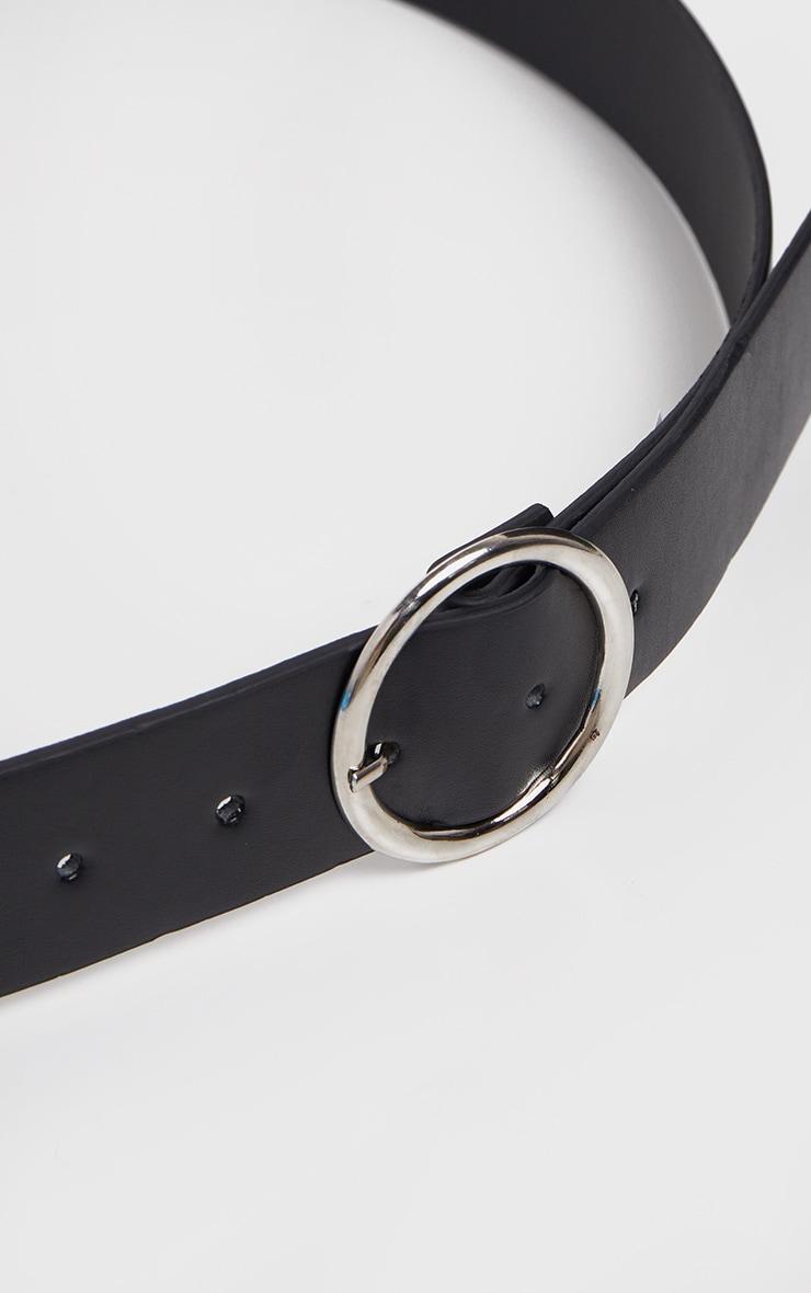Plus Black Faux Leather Circle Detail Belt 4