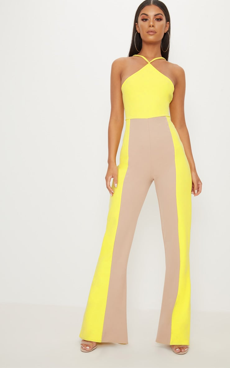 Yellow Colour Block Jumpsuit 1