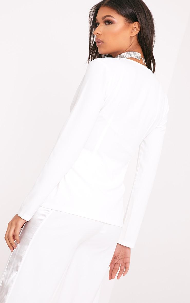 Rayla White Corset Detail Suit Jacket 3