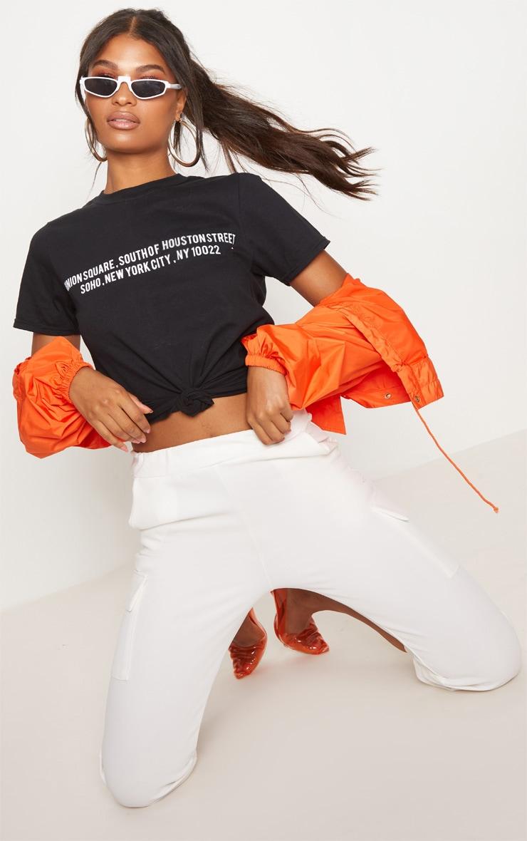 American Slogan Black T Shirt 1