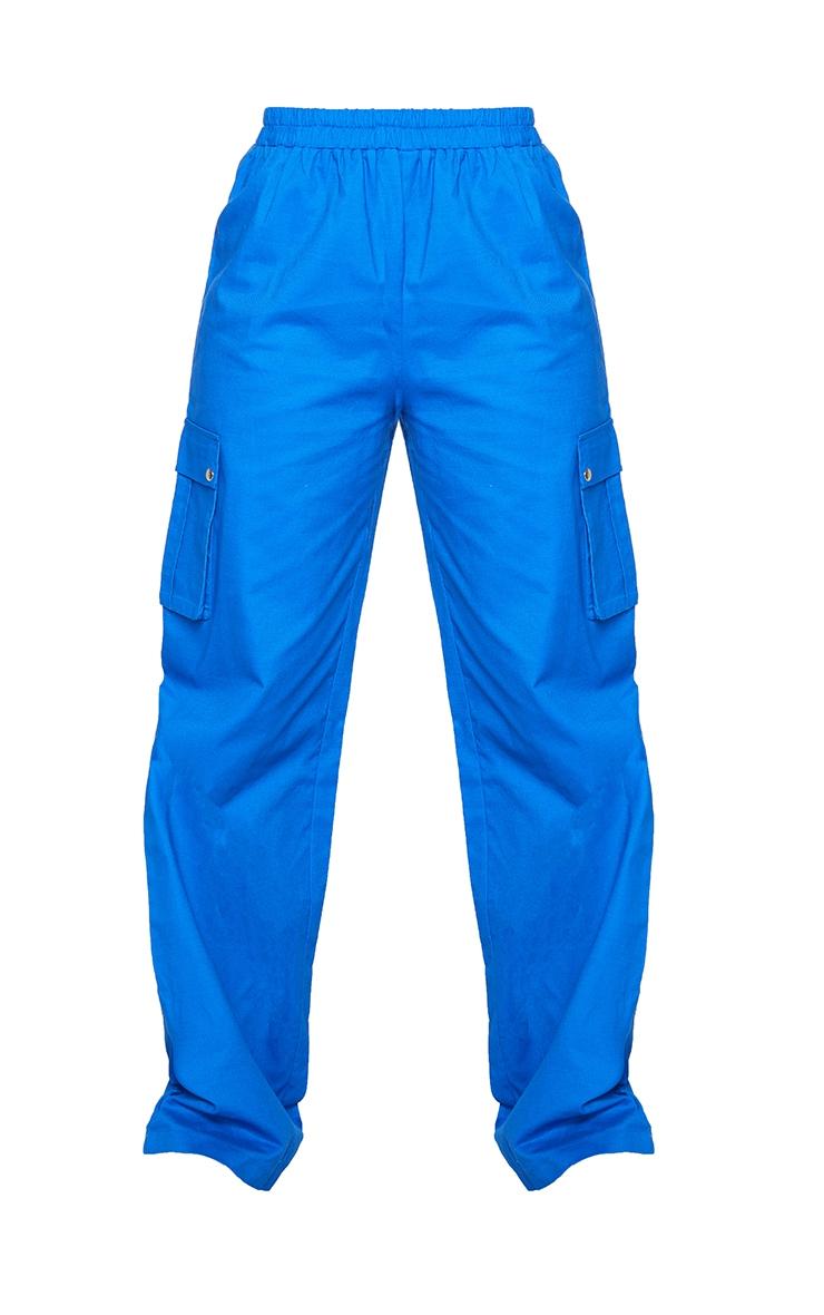 Cobalt Wide Leg Cargo Pants 5