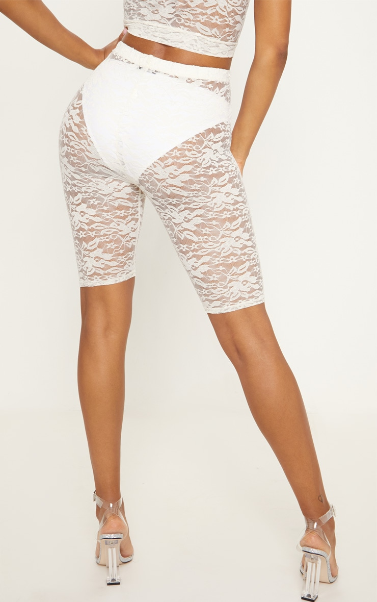 White Lace Cycling Shorts 4