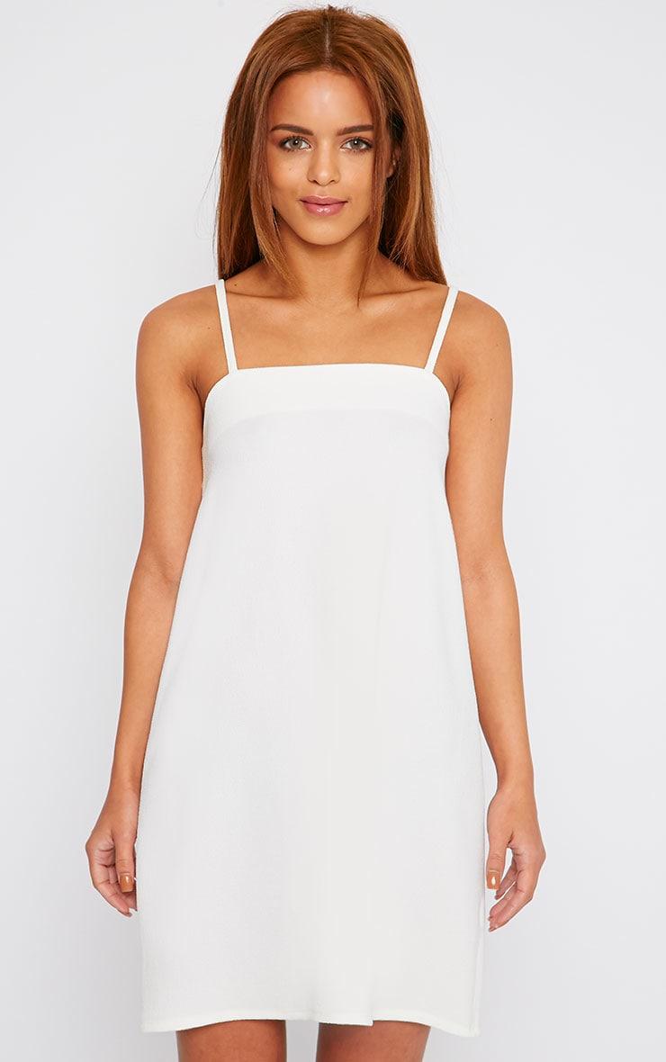 Joy Cream Crepe Cami Swing Mini Dress 7