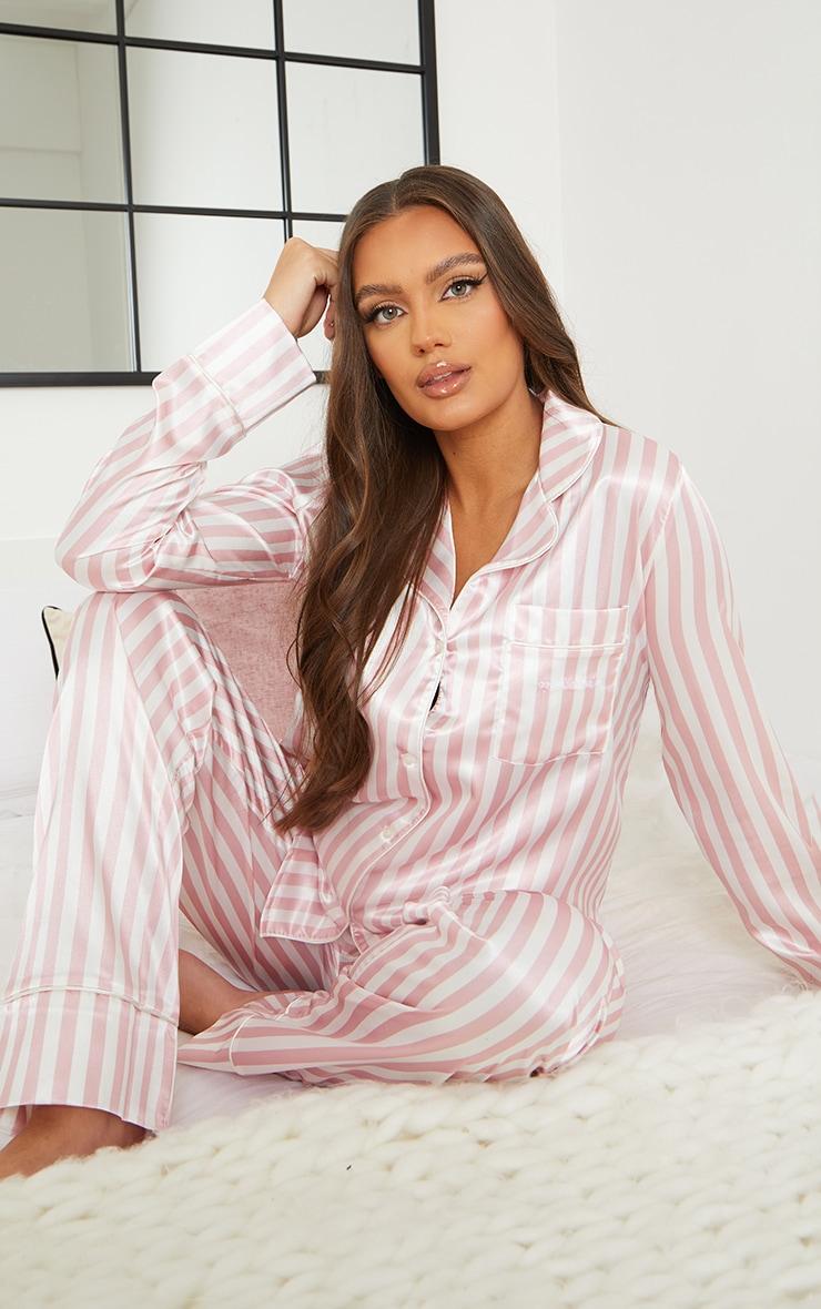 Maternity Pink Stripe Mama Long Sleeve PJ Top 3
