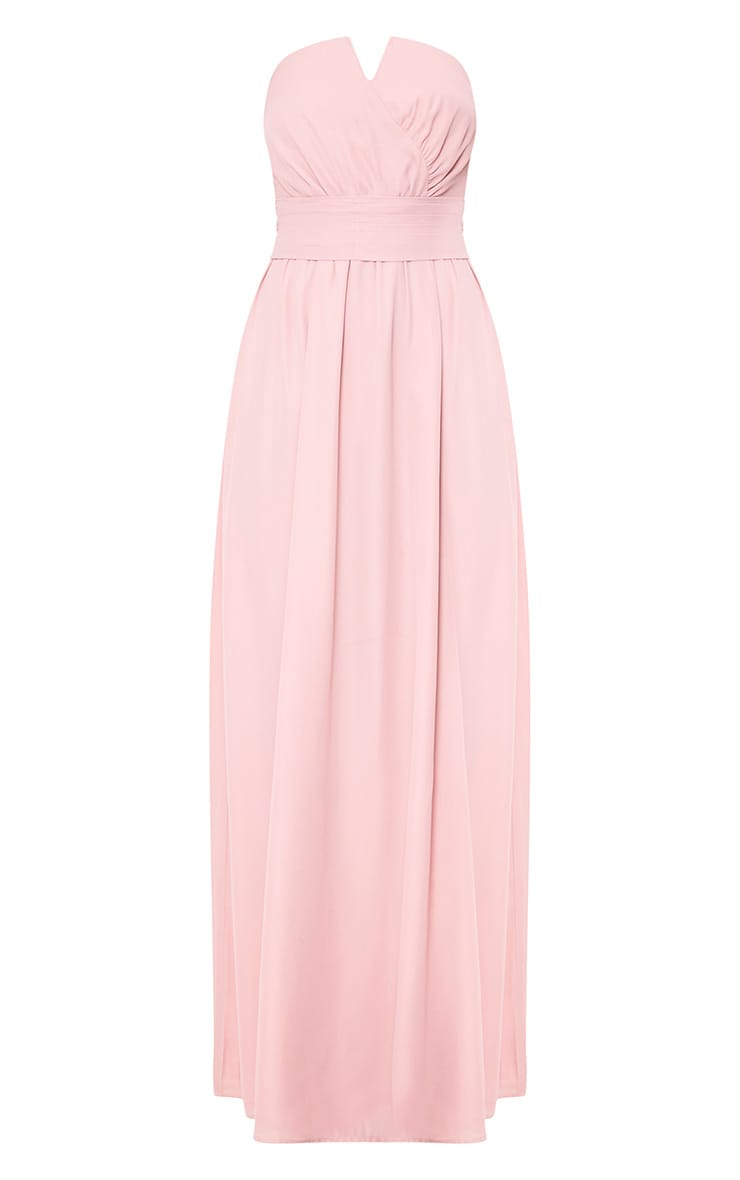Lainey Dusty Pink Bandeau Maxi Dress 3