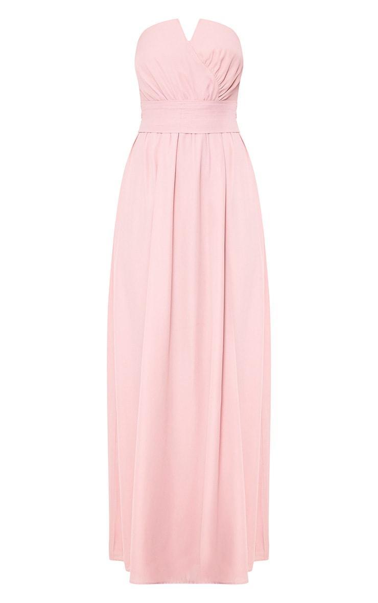 Lainey Dusty Pink Bandeau Maxi Dress 3