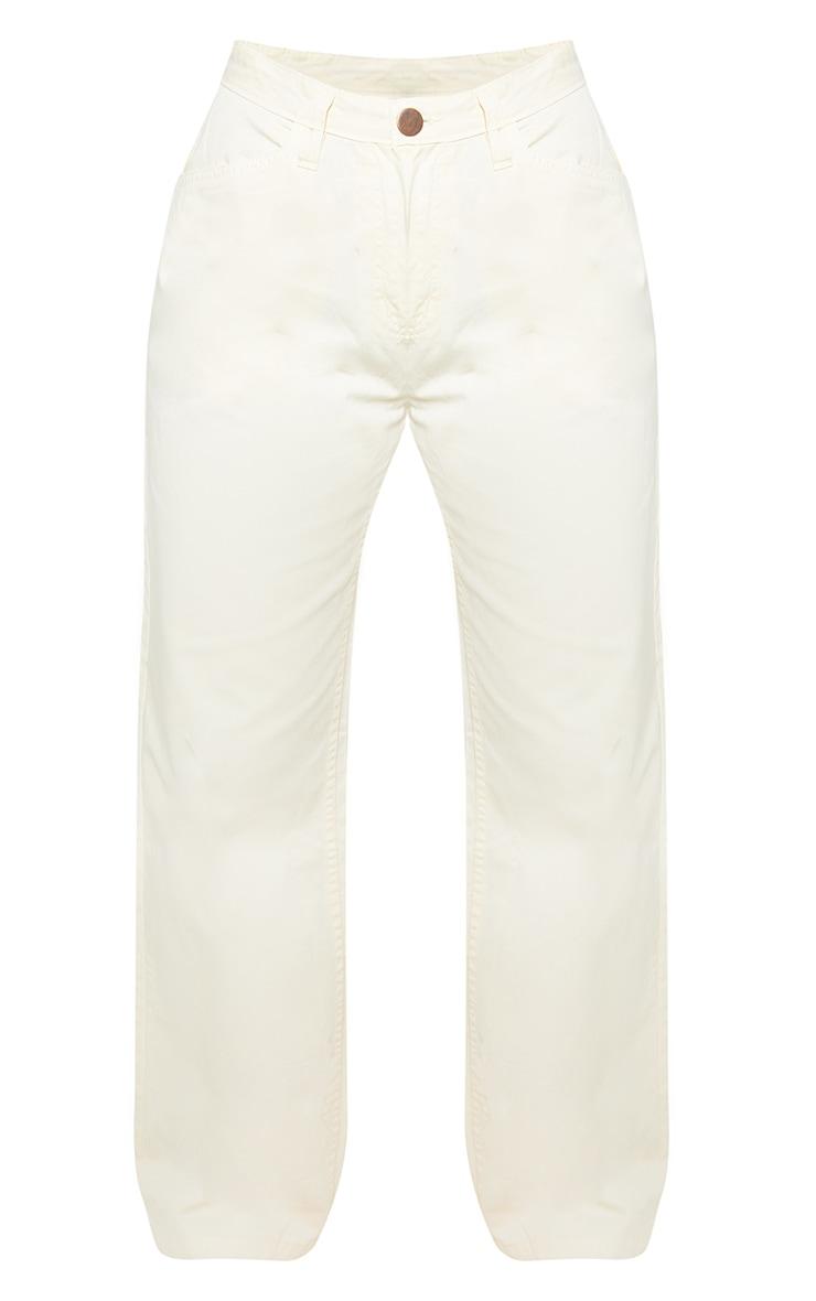 Petite Ecru High Waist Wide Jeans 3